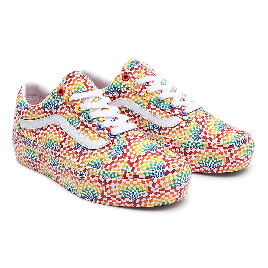 Vans  OLD SKOOL PLATFORM  women's Shoes (Trainers) in Multicolour - VN0A3B3U3WJ1