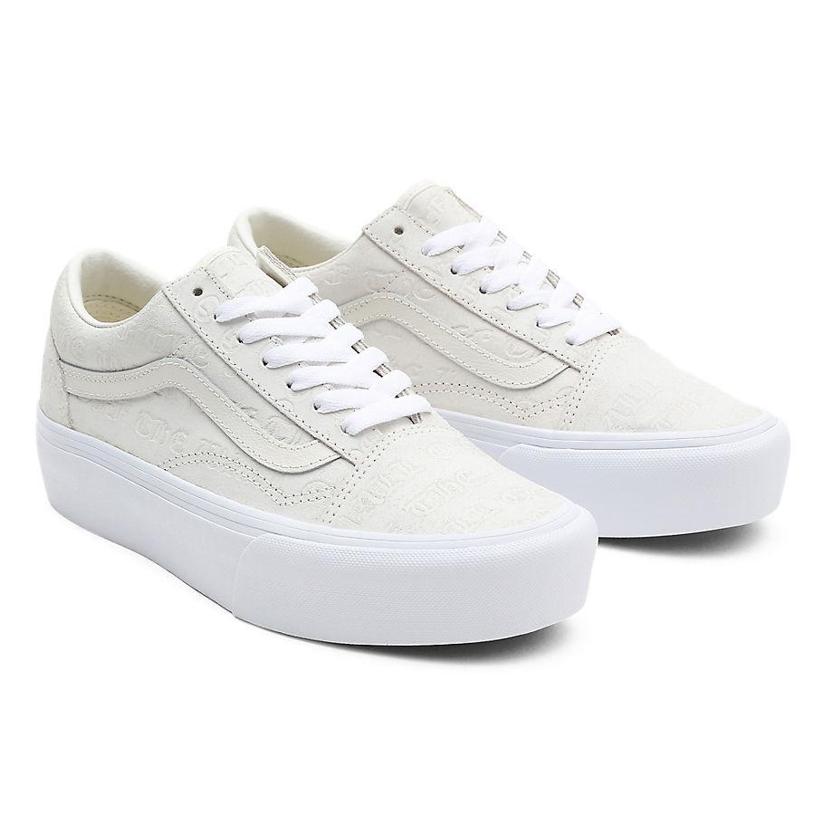 Sneaker Vans VANS Zapatillas Deboss Otw Old Skool Con Plataforma ((deboss Otw) Marshmallow/marshmallow) Mujer Blanco