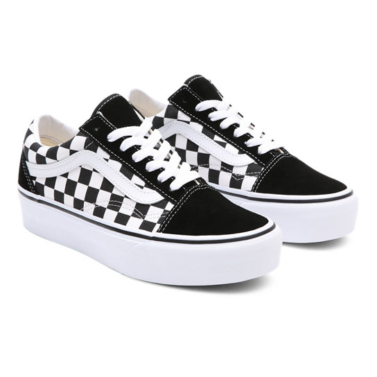 Vans Old Skool Platform Checkerboard Black True white
