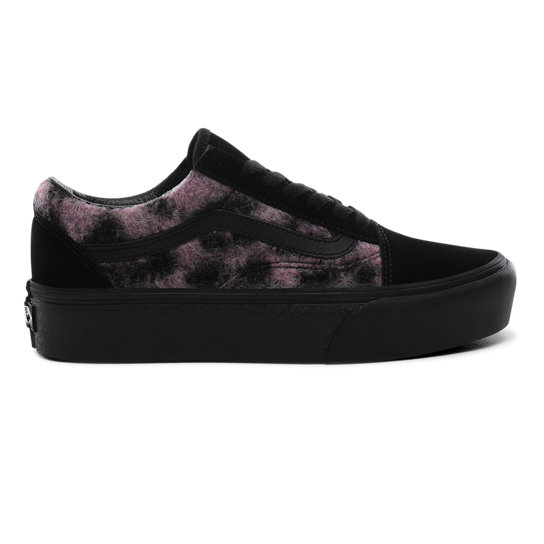 Mix Leopard Old Skool Platform Shoes | Vans