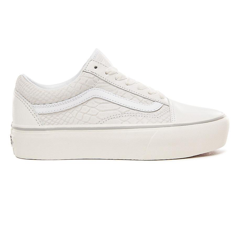 f84d01cec72 Sneaker Vans VANS Zapatillas De Niños Old Skool De Cuero Y Con Plataforma  ((leather