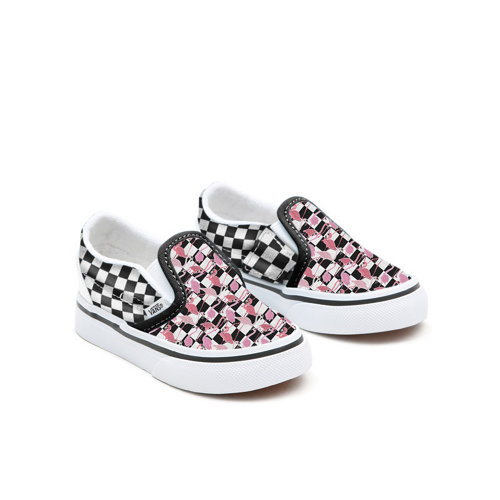Personalisierbare+Toddler+Flamingos+Checkerboard+Slip-On
