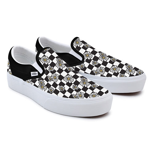Customs+Recycled+PET+Canvas+Daisy+Checkerboard+Slip-On