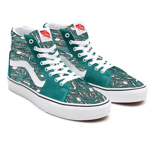 Customs+Recycled+PET+Canvas+Sharks+Sk8-Hi