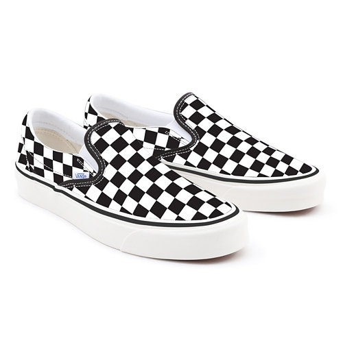 Gepersonaliseerde+Checkerboard+Slip-On+met+brede+pasvorm