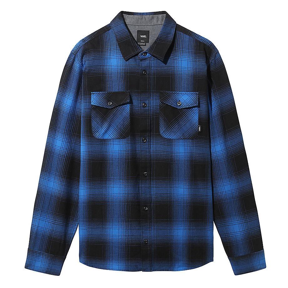 Chemise Boutonnée À Manches Longues Monterey (black-victoria Blue) , Taille L - Vans - Modalova