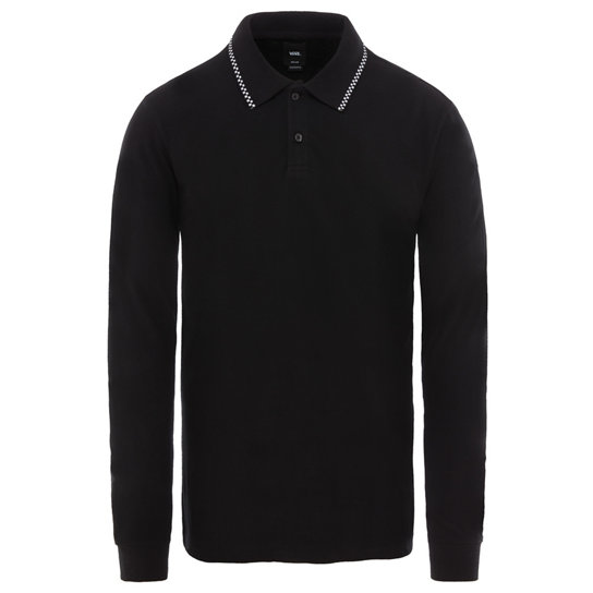 Check Tip Long Sleeve Polo Shirt | Vans