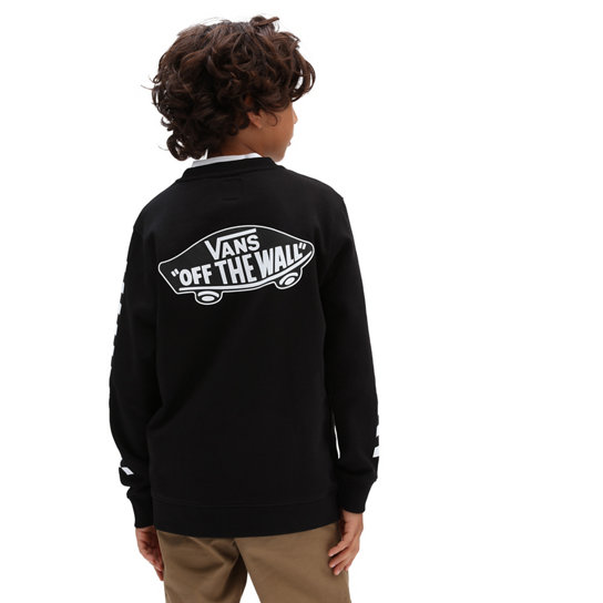 Boys Exposition Check Crew Pullover (8-14+ years) | Vans