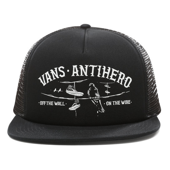 0d50b9fe Vans X Anti Hero Wired Trucker Hat | Black | Vans