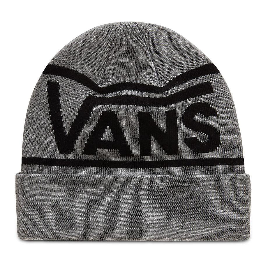 VANS Bonnet Drop V Stripe Cuff (heather Grey) Homme Gris, Taille TU