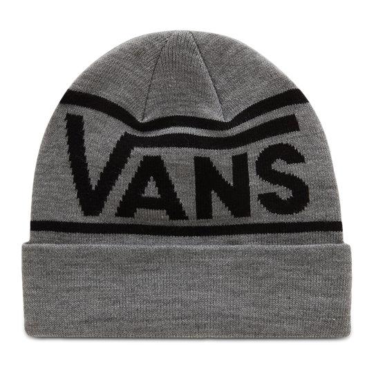 Drop V Stripe Beanie Mütze mit Umschlag