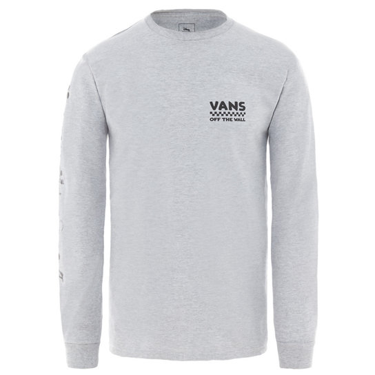09bb723ff Disney x Vans Plane Crazy Long Sleeve T-Shirt | Grey | Vans