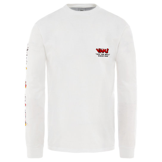 d69e81b70 Disney x Vans Through the Ages Long Sleeve T-Shirt | White | Vans