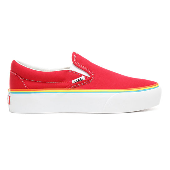Rainbow Foxing Classic Slip-On Platform Shoes  772ea9f33