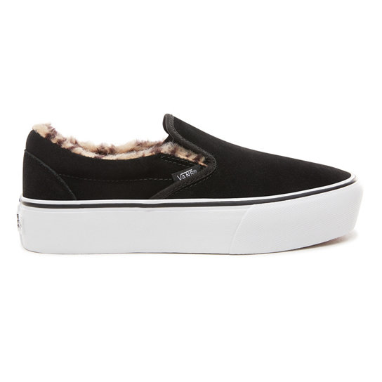 Suede Classic Slip-On Platform Shoes