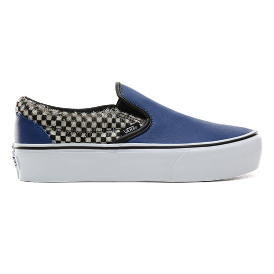 Python Check Classic Slip-On Platform Shoes | Vans