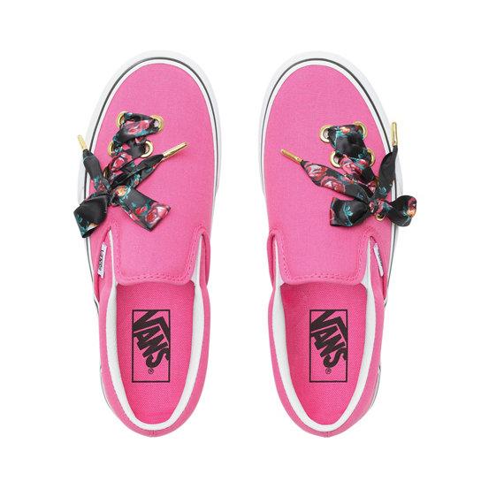Official Outlet Nice Men Vans Slip On Pink & Black Leopard