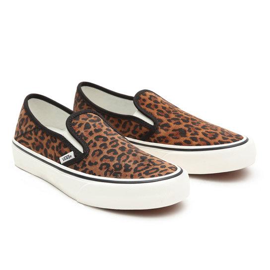 Suede Leopard Slip-On SF Shoes | Brown | Vans