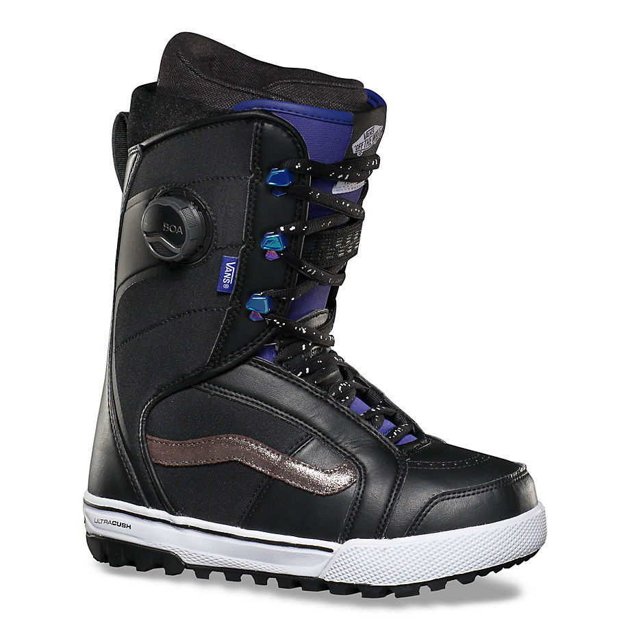 Bottes De Snowboard Ferra Pro (black/purple) , Taille 35 - Vans - Modalova