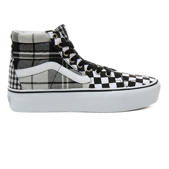 Plaid Checkerboard Sk8-Hi Plarform 2.0 Shoes | Vans