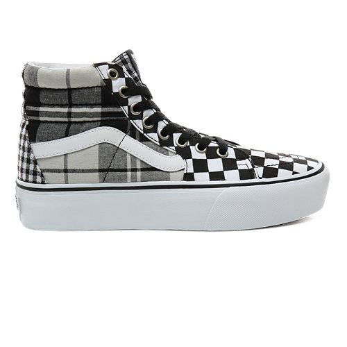 Scarpe+Plaid+Checkerboard+Sk8-Hi+Platform+2.0