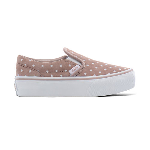 Kids+Suede+Polka+Dot+Classic+Slip-On+Shoes+%284-8+years%29