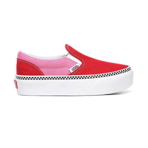 Kids+2-Tone+Classic+Slip-On+Platform+Shoes+%284-8+years%29