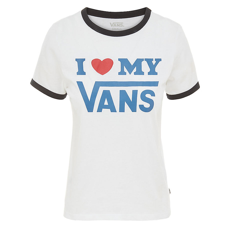 Vans Love Ringer T-shirt (white-black) Dames Wit | ricciano ...