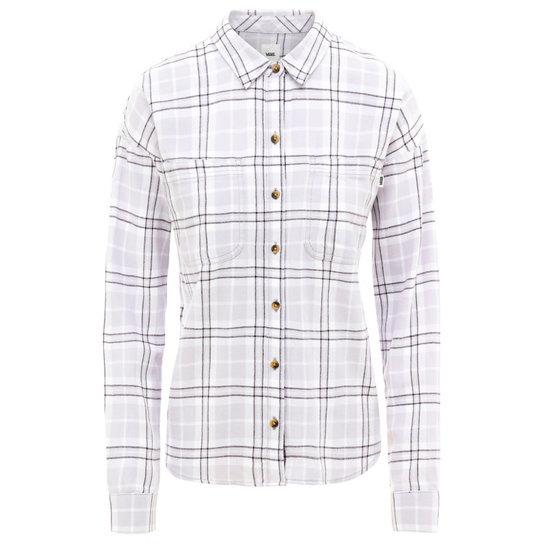Flanellen Overhemd.Brimms Flanellen Overhemd Grijs Vans