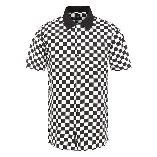 Checker+Camp+Button-down-Kurzarmhemd