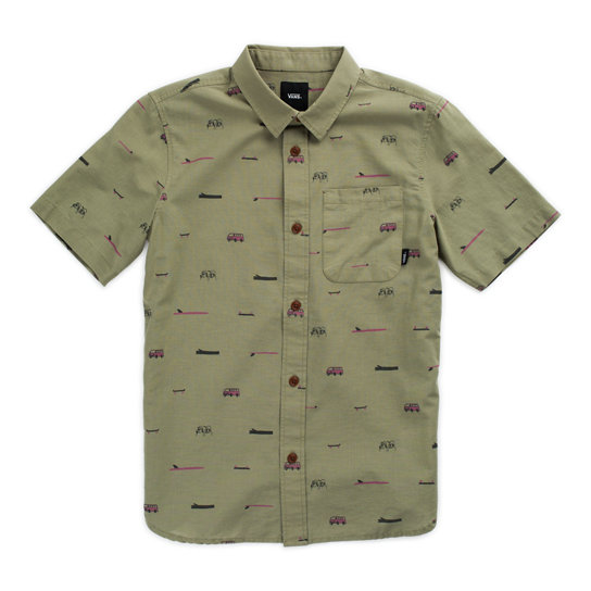 Kids Vans X Yusuke Hanai Loggin Short Sleeve Shirt (8-14+ years) | Vans