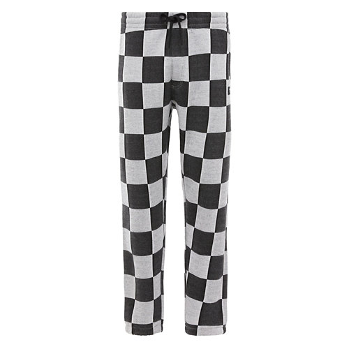 Pantalon+en+molleton+et+jacquard+Checker