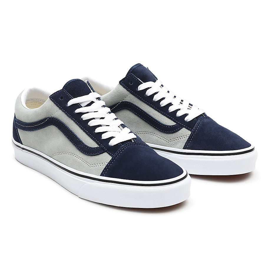 Sneaker Vans VANS Zapatillas De Ante Bicolor Old Skool ((2-tone Suede) Dress Blues/mineral Gray) Mujer Navy