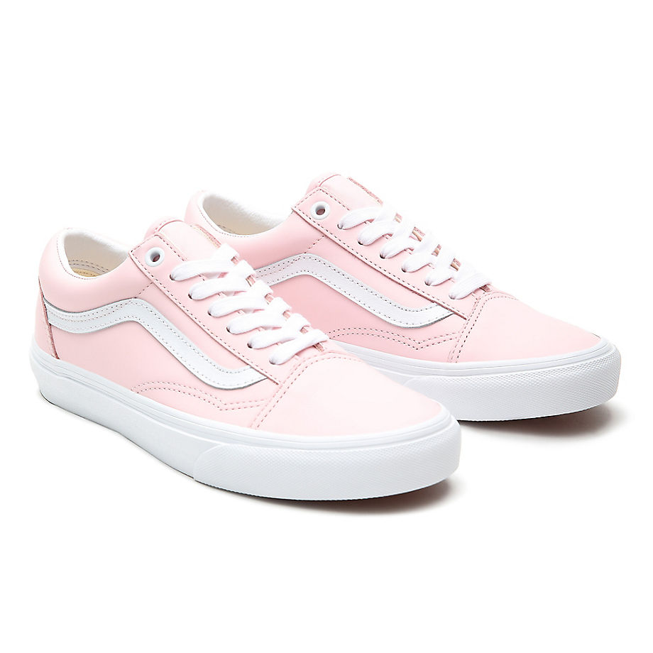 Sneaker Vans VANS Zapatillas De Cuero Old Skool ((leather) Blushing Bride/true White) Mujer Rosa