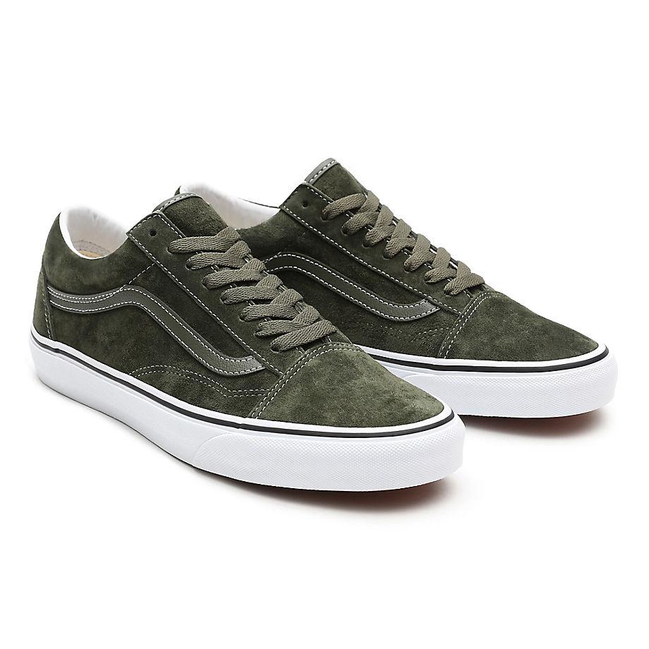 Sneaker Vans VANS Zapatillas Old Skool De Ante De Cerdo ((pig Suede) Olive/true White) Mujer Verde
