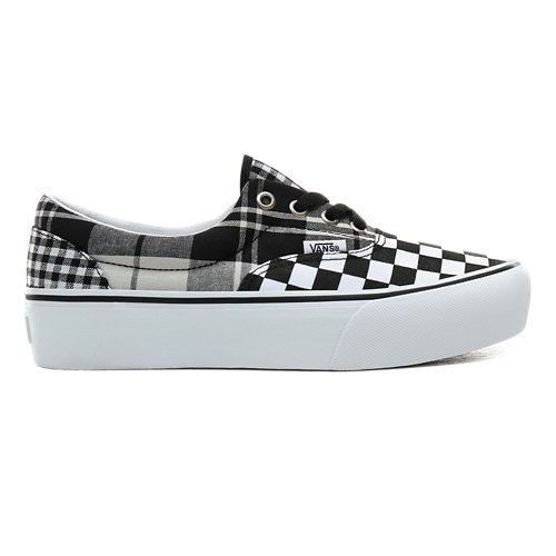 Plaid+Checkerboard+Era+Plateauschuhe