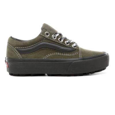 Hazlo pesado clima Pavimentación  90s Retro Old Skool Lug Platform Shoes | Green | Vans
