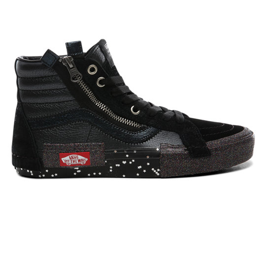 Vans Sk8 Hi ComfyCush® Distort Skate Shoe Black | Journeys