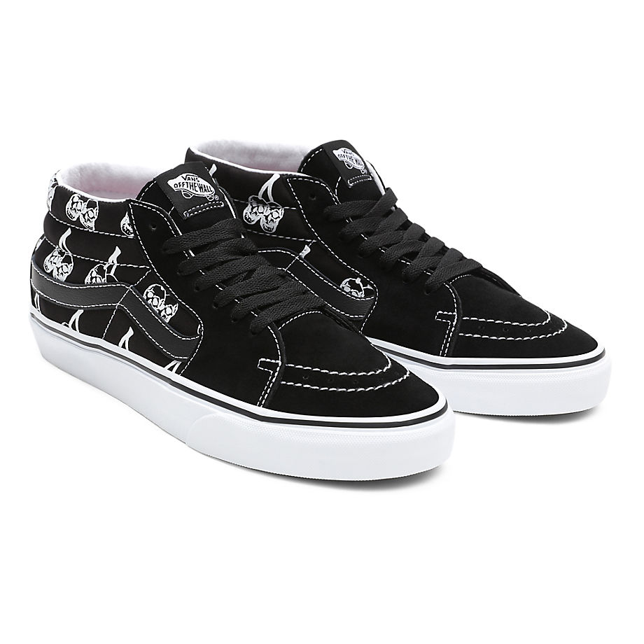 Vans  SK8 MID  women's Shoes (High-top Trainers) in Black - VN0A3WM34WW1