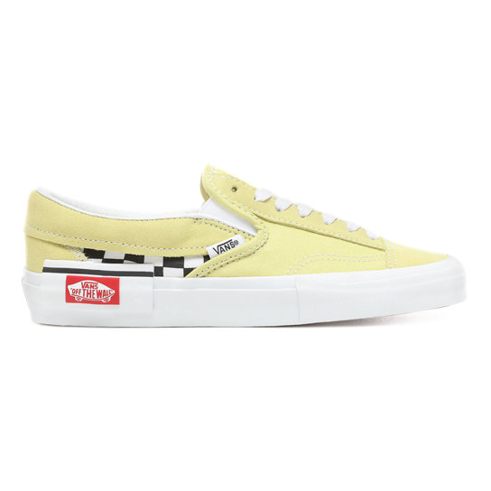 9e0c0f441 Checkerboard Slip-On Cap Shoes | Yellow | Vans