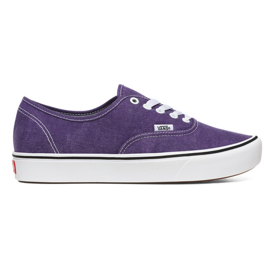 Washed Canvas ComfyCush Authentic Shoes | Vans