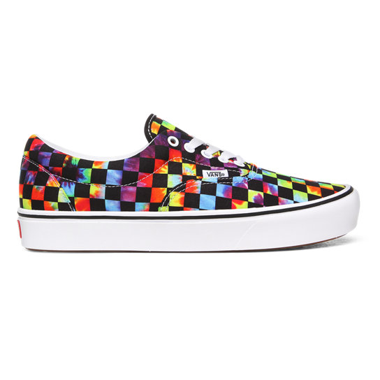 Tie-Dye Checker ComfyCush Era Shoes | Vans