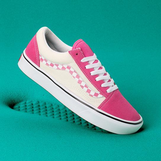 c63824ece0 Sidestripe Check Comfycush Old Skool Shoes | Pink | Vans