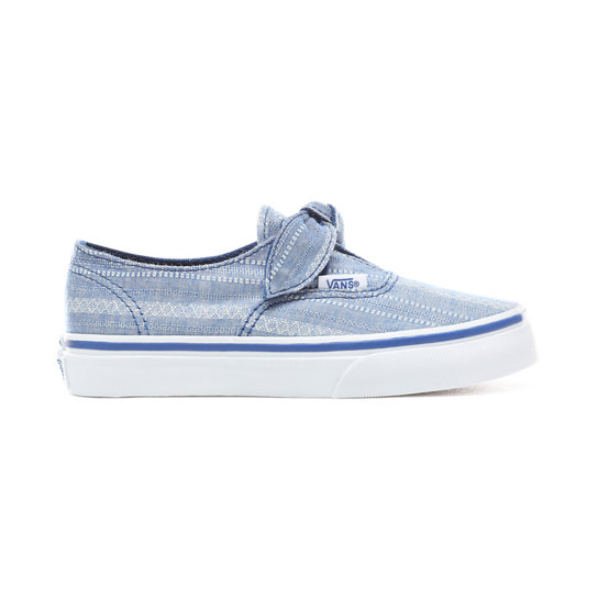 Kids Lace Chambray Authentic Knotted Shoes (5+ years) | Vans