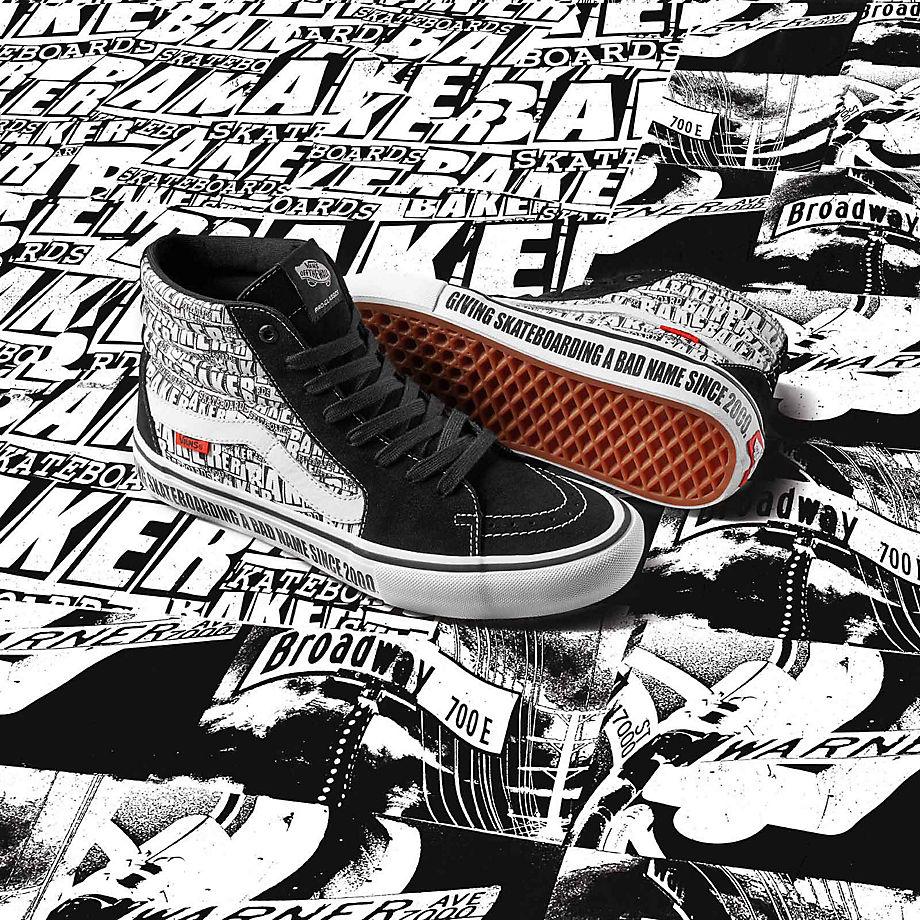 Vans X Baker Sk8 hi Pro Shoes ((baker) Blackwhite) Men