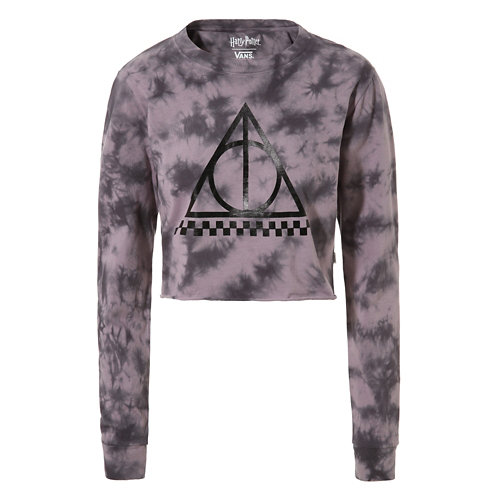 Vans+x+HARRY+POTTER%E2%84%A2+Deathly+Hallows+Long+Sleeve+Crop+T-shirt