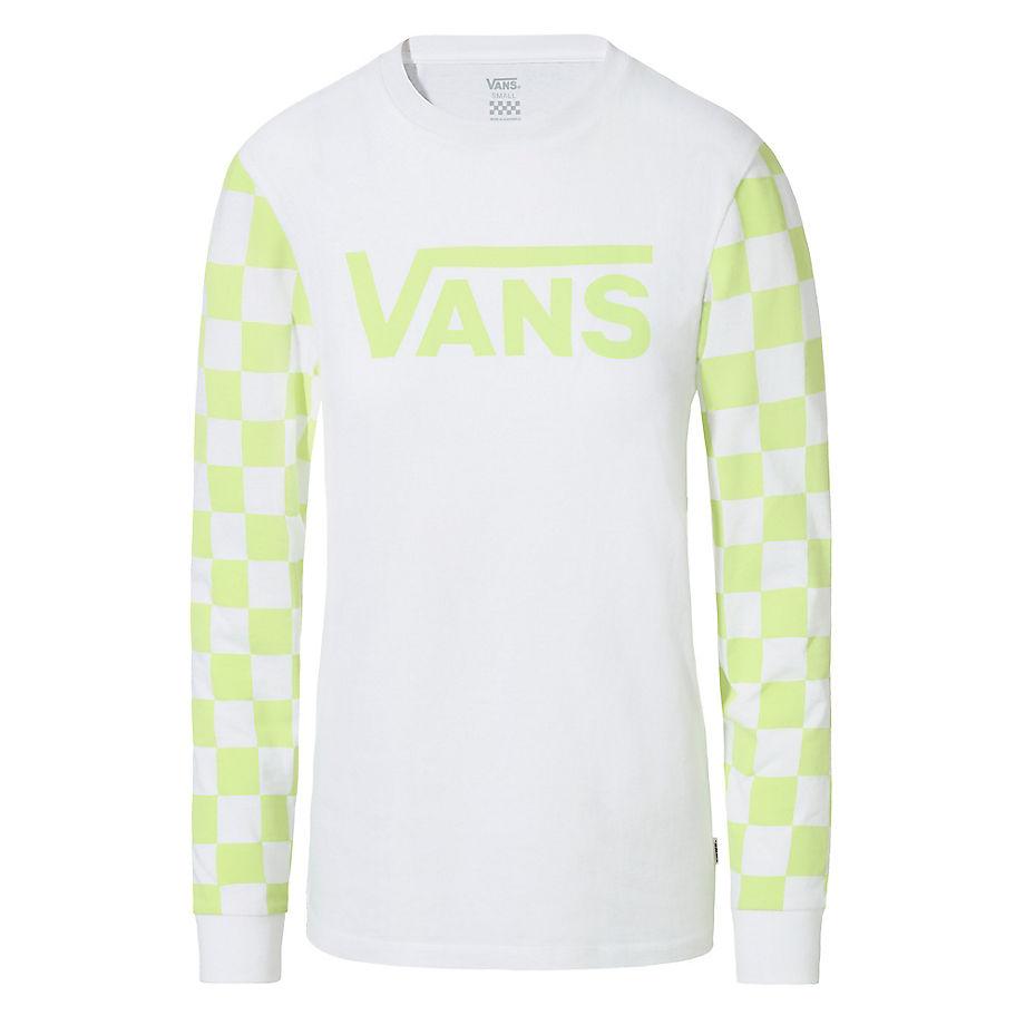 T-shirt À Manches Longues Big Bold Diy (white-sharp Green) , Taille L - Vans - Modalova