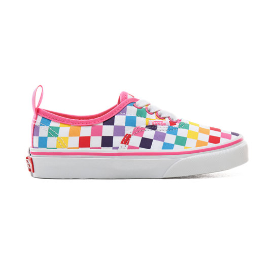 Kids Checkerboard Authentic Elastic Lace Shoes (4-8 years) | Vans