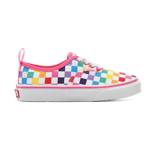 Kids+Checkerboard+Authentic+Elastic+Lace+Shoes+%285%2B+years%29