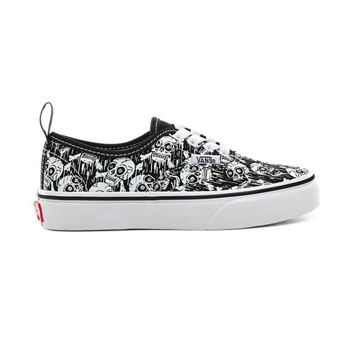 Kids+Glow-in-the-dark+Skulls+Authentic+Elastic+Lace+Shoes+%285%2B+years%29
